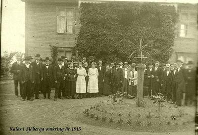 Kalas i sjoberga omkring 1915