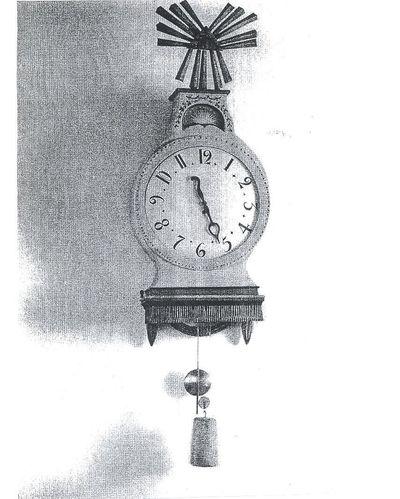 Klocka tillverkad av stalknapp