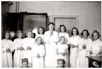 Lucia 1945 i odeshogs kyrka