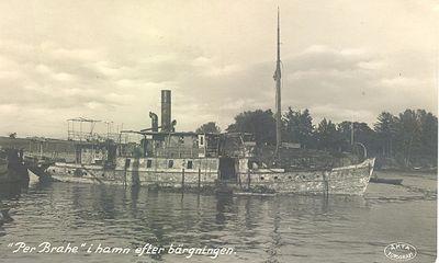 Per brahe i hamn efter bargningen 1922