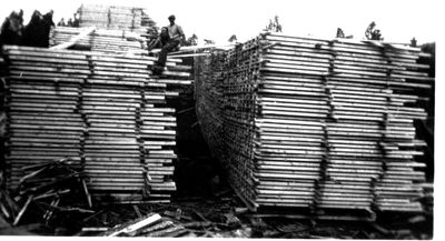 Plankbararen uno vid sagen i ojan