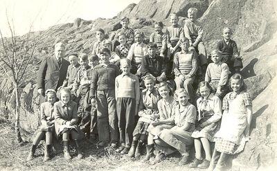 Siggeryds skolelever ak 3 till ak 7 lasaret 1950 51