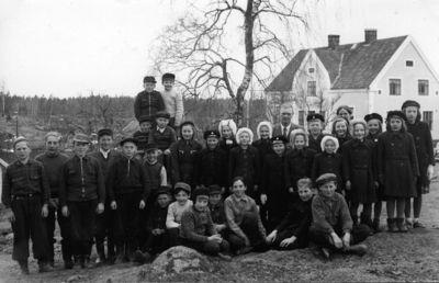 Skolfoto fran munkeryd skola 1947