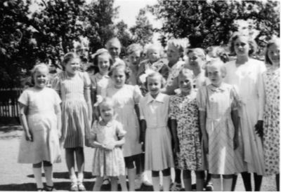 Skolfoto fran munkeryd skola 1952