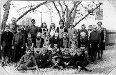 Skolfoto fran munkeryds skola 1945