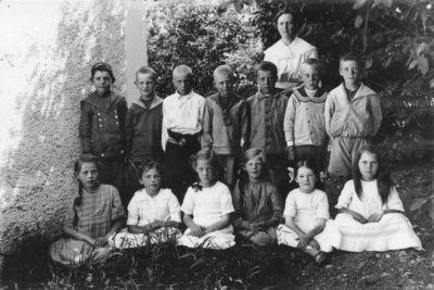Skolklass fran omkring 1915