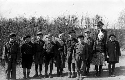 Smaskolan i munkeryd 1943
