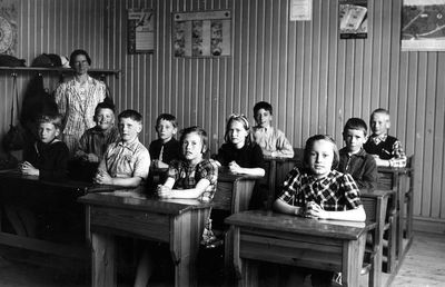 Smaskolans klassrum i munkeryd 1944