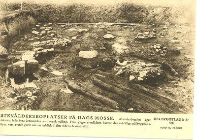 Stenaldersboplatser pa dags mosse