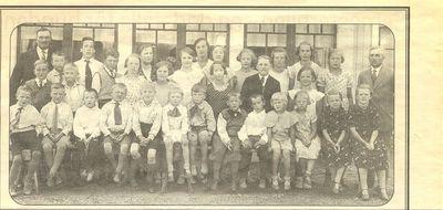 Sondagsskolfest fran storgarden i stora aby 1936