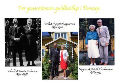 Tre generationers guldbrollop i porsarp