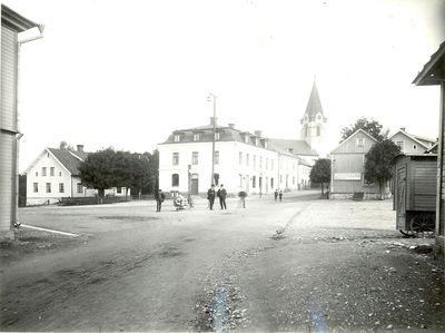 Odeshogs torg i borjan av 1900 talet