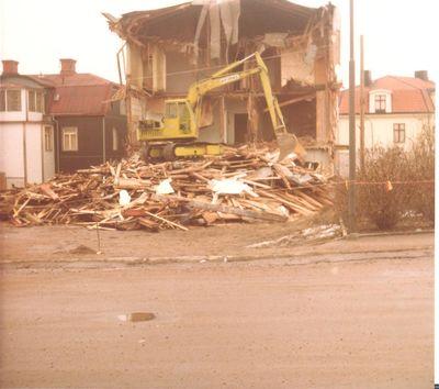 Rivning av carlstroms hotell 1978