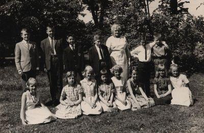 Klass 3 och 4 i stora aby skola 1962 1963