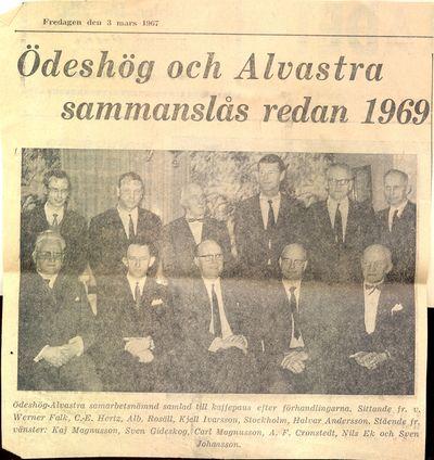 Odeshog och alvastra sammanslas redan 1969