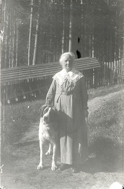 Ellen key med sin hund