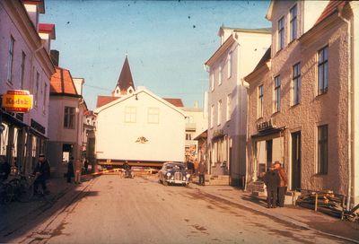Flyttning av bankhuset 1960 riddargatan