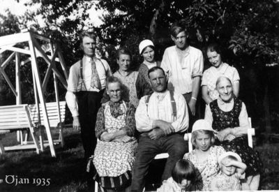 Gruppfoto fran ojan omkring 1935